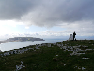 The top of Little Orme looking across Llandudno Bay to Great Orme