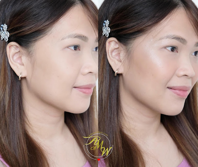 before and after photo of Make Up For Ever GLITZY Face Palette review