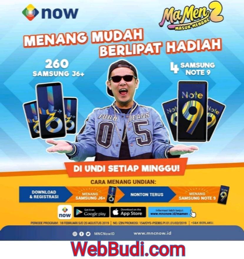 Kuis mncnowid Berhadiah HP Samsung J6+ dan Note 9   WebBudi.com