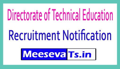 Directorate of Technical Education DTE Recruitment