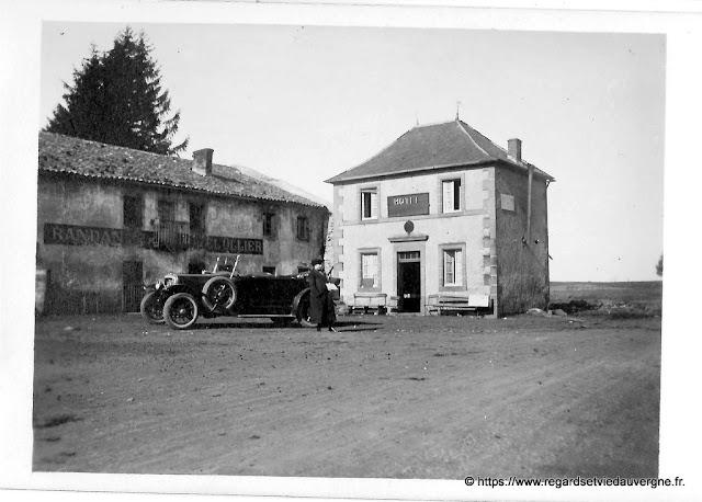 Photo noir et blanc de Randanne Hôtel Ollier