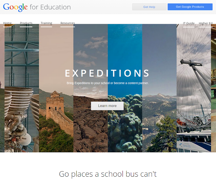 Expeditions para Google CardBoard Educación