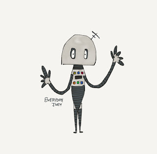 Robot - Drawing - Everyday Joey