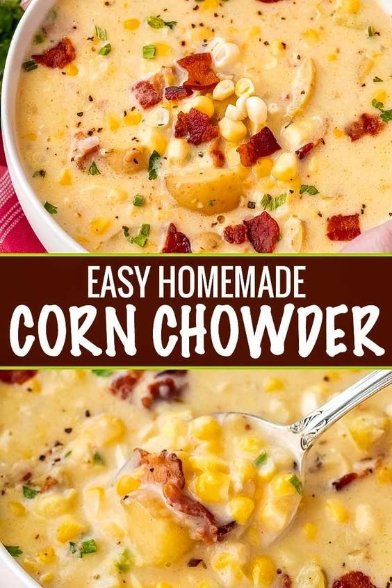 Hearty Homemade Corn Chowder
