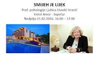 Prof. psihologije Ljubica Uvodić-Vranić SMIJEH JE LIJEK (radionica), hotel Amor, Supetar slike otok Brač Online
