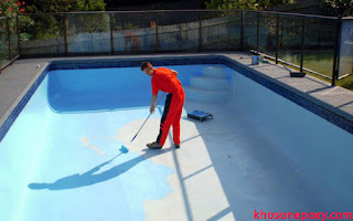 quy trình thi công sơn epoxy chống thấm cho bể bơi, hồ nước