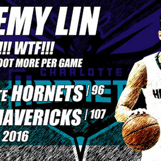Jeremy Lin Took Only 3 Shots As The Hornets Lost To The Mavericks, 96 - 107, 3.14.2016