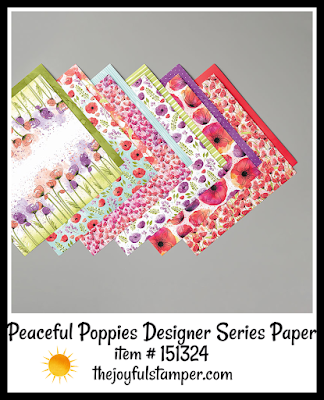 Stampin' Up! Peaceful Poppies Designer Series Paper | Nicole Steele The Joyful Stamper