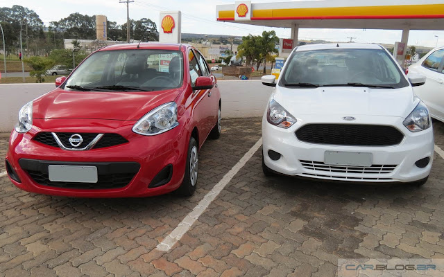 Nissan March x Ford Ka: comparativo