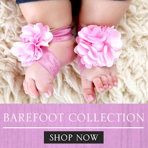 newborn barefoot accessories for sale