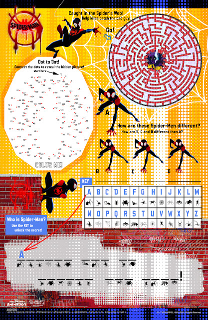 spiderman activity sheet