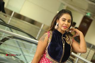 Telugu Actress Sri Reddy Mallidi Stills in White Beautiful Dress at Marriage Needs Bridal Fashion Week 2017 Logo Launch  0191.JPG