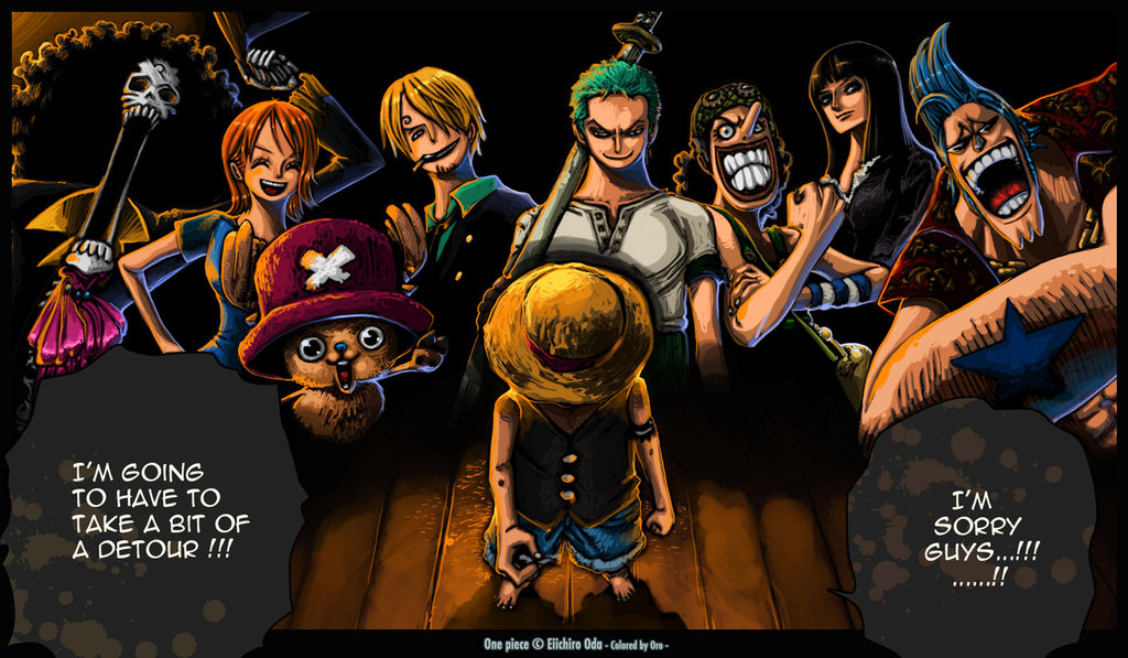 American top cartoons: One piece Luffy's Crew