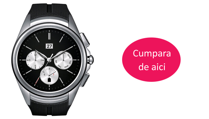 Ceas SmartWatch LG Urbane 2nd Edition W150 Black/Silver