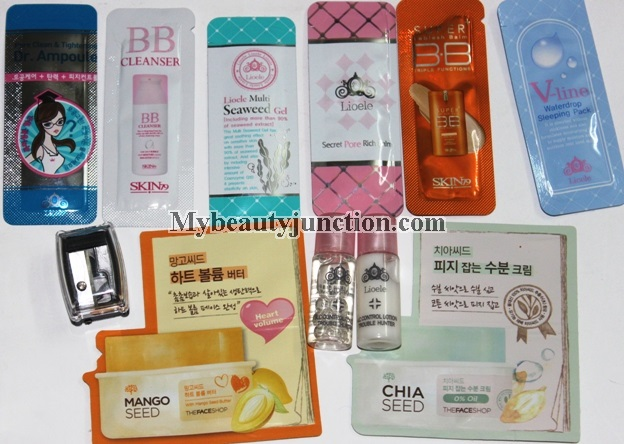 Beauteque beauty sample bag review and contents: Korean products with worldwide shipping