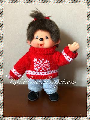 kiki monchhichi pull handmade tricot fait main knitting doll