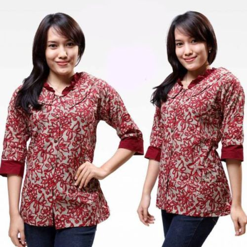 Gambar Baju Batik Kantor Wanita: 10 Model Baju Batik Kantor Wanita Kombinasi, Eksotis