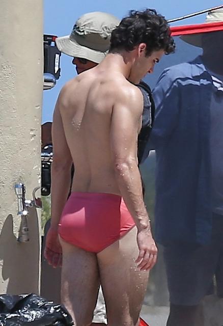 My New Plaid Pants That S One Skimpy Speedo Darren Criss