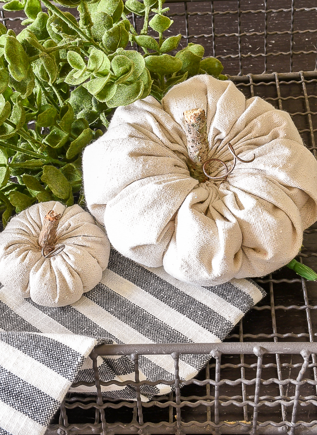 Rustic DIY fabric pumpkins