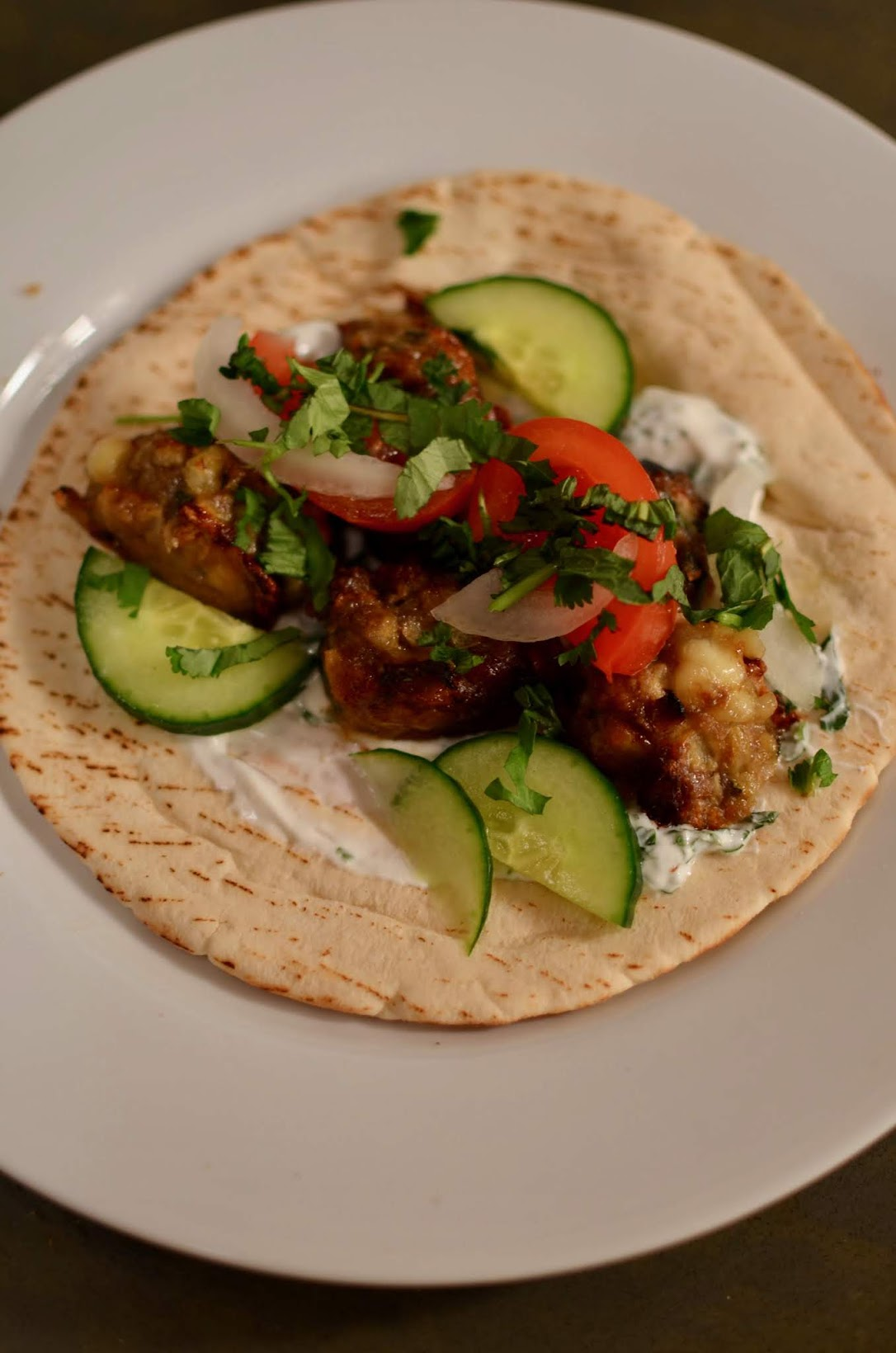 lamb meatball pita recipe, easy summer recipes