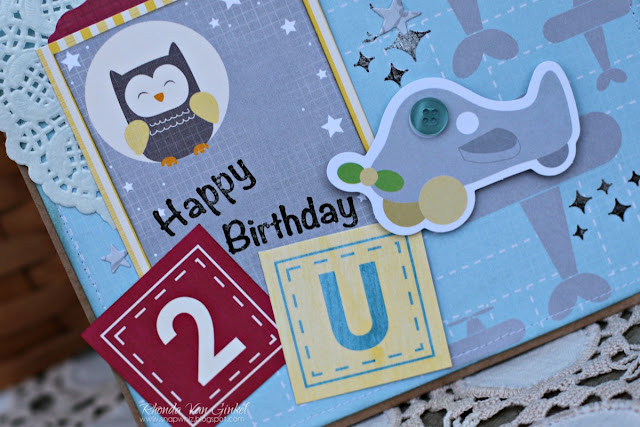 Birthday Gift Bag featuring Toy Box and Twinkle Twinkle Dies by BoBunny designed by Rhonda Van Ginkel