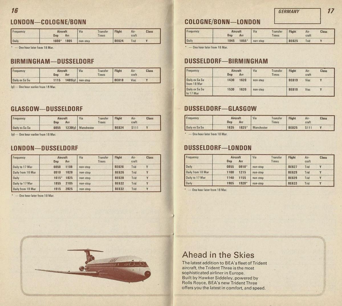 british airways flight schedule pdf