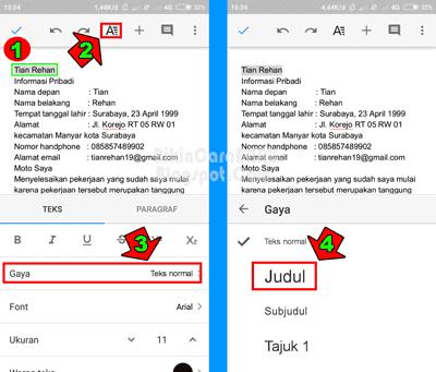 Cara Membuat Cv Di Hp Android Lewat Aplikasi Google Dokumen Bikin