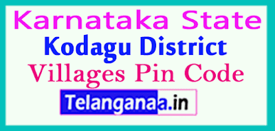 Kodagu District Pin Codes in Karnataka State