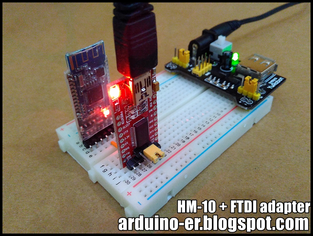 Arduino-er: Test HM-10 Bluetooth 4 0 BLE module with FTDI
