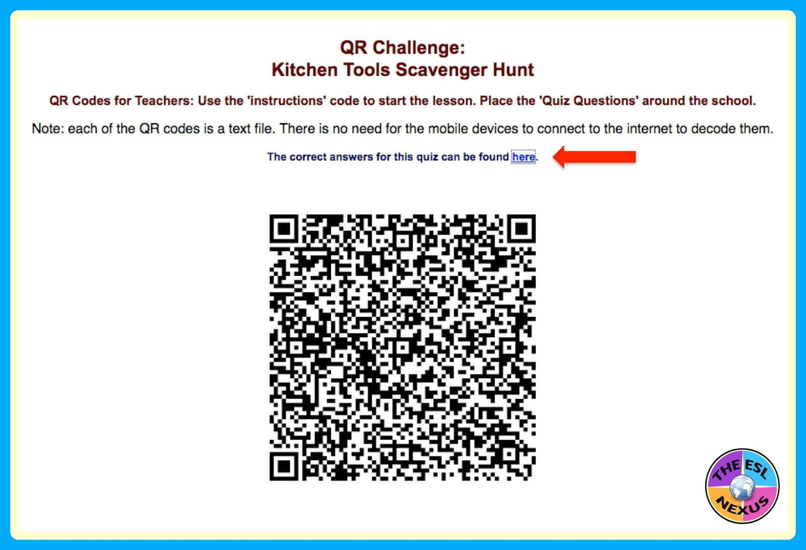 How to easily create a QR code scavenger hunt & lessons learned after implementing one for the first time | The ESL Connection
