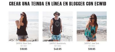 Crear una tienda en linea en tu Blogger con Ecwid