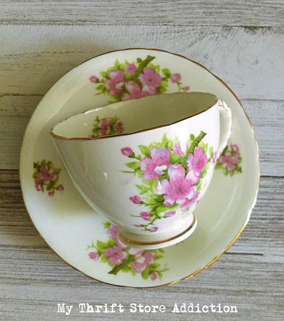 vintage floral teacup