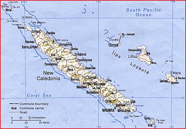 Gambar Peta politik Kaledonia Baru