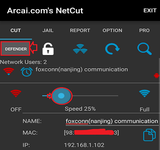 limit wifi speed android NetCut