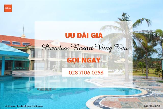 Paradise resort Vũng Tàu khuyến mãi mừng năm mới