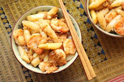 asperge avec crevette chine
