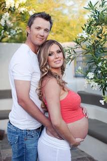 Matt with his pregnant wife Melisa