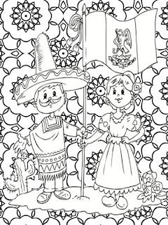 Mexican revolution mandala coloring pages