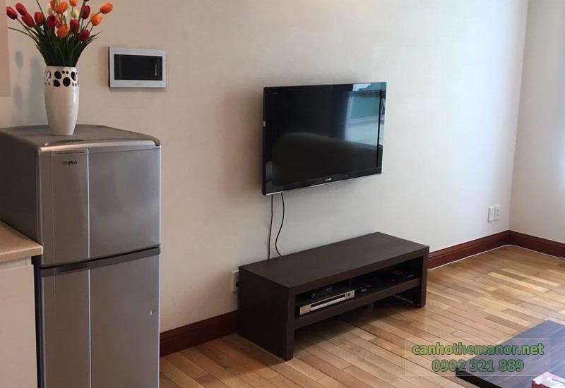 The Manor 2 HCM - tivi và tủ lạnh tại căn hộ 1 phòng ngủ