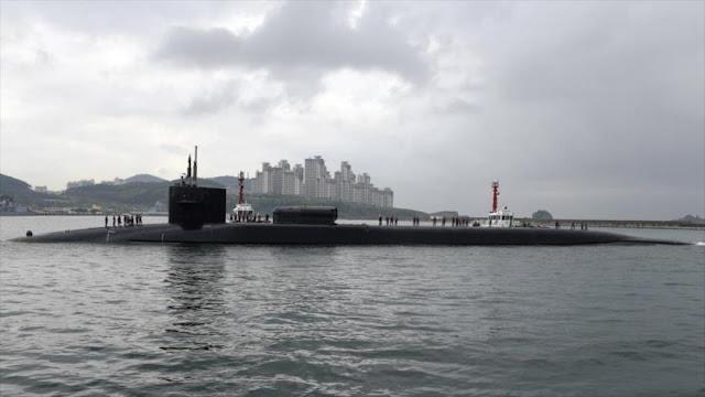 Submarino nuclear de ataque de EEUU ya está en Corea del Sur