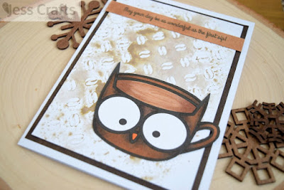 Jess Crafts Digitals Coffee Card featuring Coffee Cup Critters