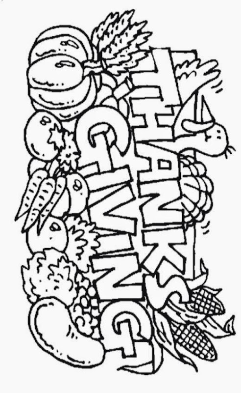 Thanksgiving Food Coloring Pages   AZ Coloring Pages