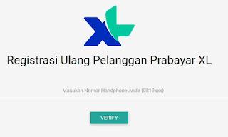 Cara registrasi ulang kartu xl secara online, Format sms registrasi kartu xl, Cara registrasi ulang kartu xl
