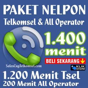 Paket Nelpon Telkomsel 1400 Menit - Beli Sekarang KLIK DISINI