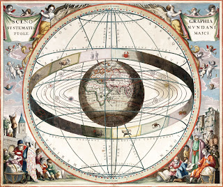 The 17th century perception of the universe, with the Earth at its centre, that Bruno challenged