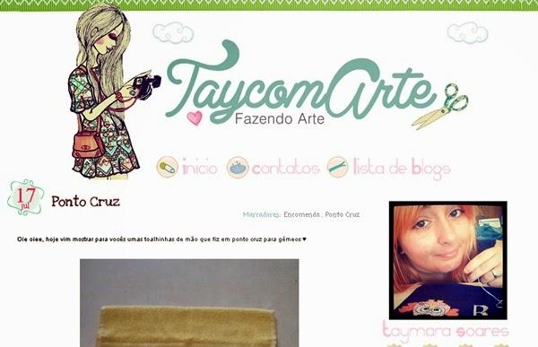 TaycomArte, blog, ponto cruz, artesanato, bordado