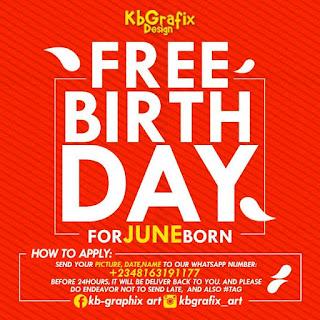 Free Birthday Design For June Born Courtesy Of KB Graphix Designs 1