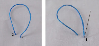 bullion, knot, stitch