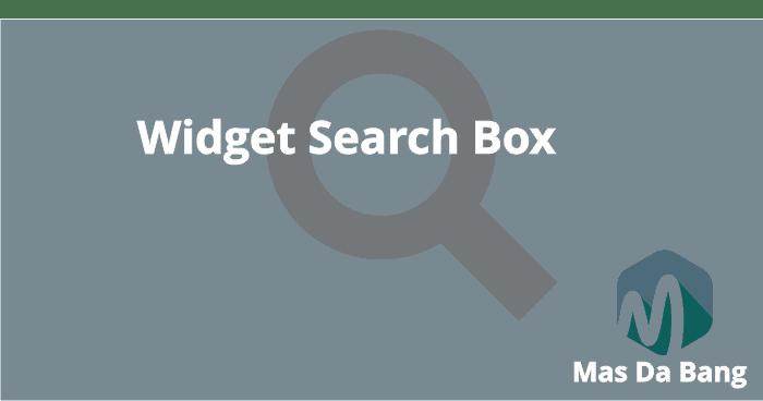 Widget Search Box Dengan Social Buttons di Blog