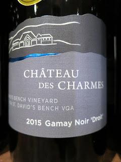 Château des Charmes St. David's Bench Vineyard Gamay Noir Droit 2015 (89 pts)
